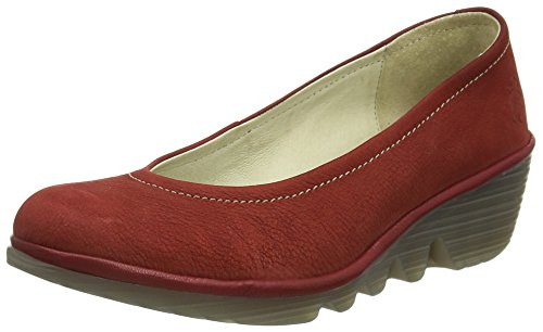 Fly London PUMP - Sandali a Punta Aperta Donna, Rosso (CORDOBA RED/CHERRY 062), 38 EU