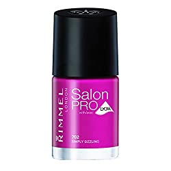 Rimmel Salon Pro with Lycra Nail Polish, Simply Sizzling, 0.4 Fluid Ounce