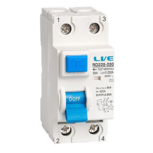 2 Pole 63 Amp 30mA RCD RCCB Residual Current Device/Circuit Breaker RD263-030