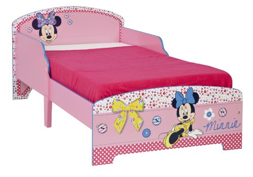 Worlds Apart 863986 Moderne Lit d'Enfant Toddler/Disney Minnie Mouse MDF Rose 59 x 77 x 145 cm