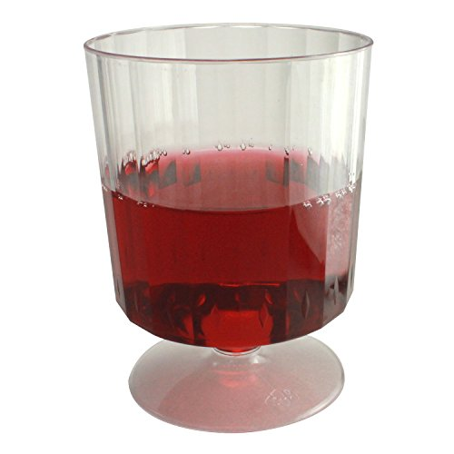 Enimay 8 oz. Clear Plastic Wine Glasses Party 10 Pack