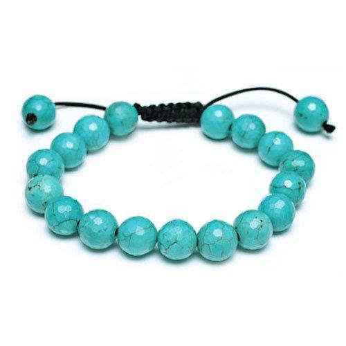 Bling Jewelry Turchese Unisex Ispirato da 11 millimetri braccialetto di Shamballa Jewels