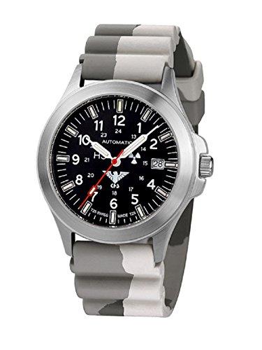 KHS Tactical relojes hombre Automatic KHS. PA.DC5 acero inoxidable correa de camuflaje. Colour