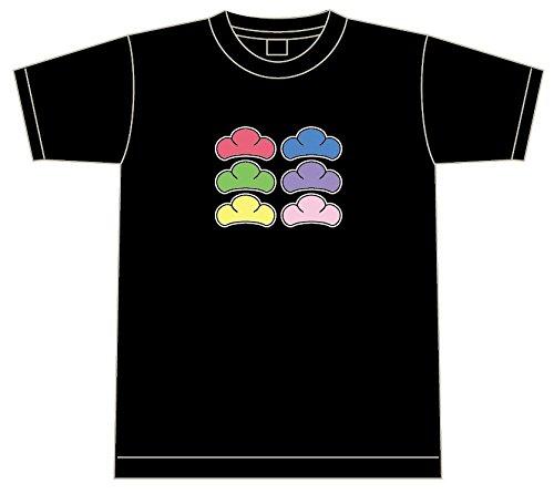 松柄 Tシャツ  ブラック 松カラー/6色 オールカラー 【6色】 【綿Tシャツ】 (M)