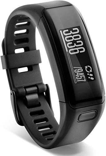 Garmin Vivosmart HR Regular Fitness Band con Schermo Touch, Smart Notification e Monitoraggio Cardiaco al Polso, Nero, M - L (13,7-18,8 cm)
