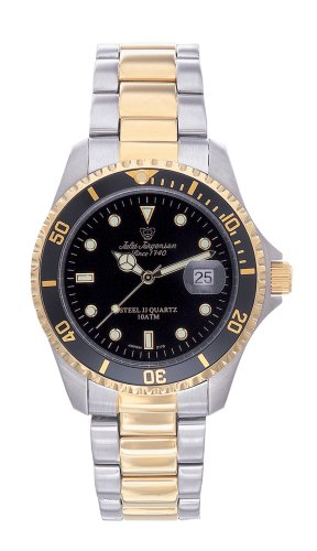 Jules Jurgensen Men's Two-Tone Sport Watch #7801NB - Buy Jules Jurgensen Men's Two-Tone Sport Watch #7801NB - Purchase Jules Jurgensen Men's Two-Tone Sport Watch #7801NB (Jules Jurgensen, Jewelry, Categories, Watches, Men's Watches, Sport Watches)