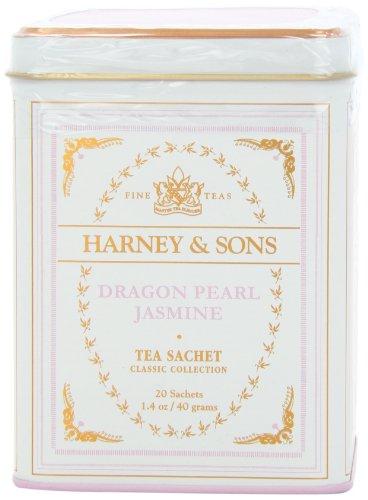 Harney & Sons Classic Dragon Pearl Jasmine Tea, 20 Tea Sachets, 1.4Oz