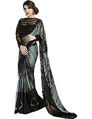 Sareestudio Satin Saree (S-41-9300-9296 _Black And Grey)