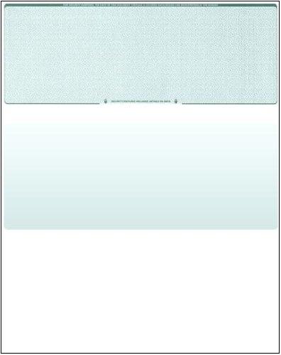 Business Voucher Check Stock - Versacheck Refills - 2500 Sheets, Check on Top, Green Diamond