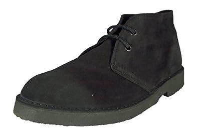 Real Suede Desert Boots Men's & Boys Classic 2 Eyelet  M 467, Black , UK6