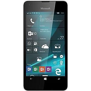 Microsoft Lumia 550 Smartphone débloqué 4G (Ecran : 4,7 pouces - 8 Go - Simple Nano-SIM - Windows Phone) Blanc