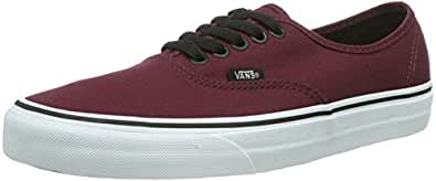 Vans U Authentic, Baskets mode mixte adulte - Bordeaux (Port Royale/Black), 36 EU