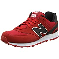 New Balance ML574 Mens Reflective Pack Sneaker (Red)