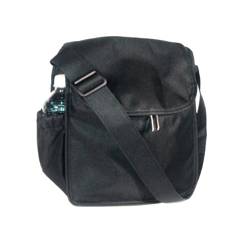 Artecobags Insulated Lunch Tote Bag- Dual Zipper Closure With Adjustable Straps - Solid Black
