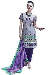 Cenizas embroidered Semi Stich Salwar Suit Duptta ( ASHN 634)