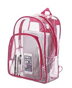 Transparent Clear School Bag See-thru Backpack Casual Daypack Outdoor Knapsack
