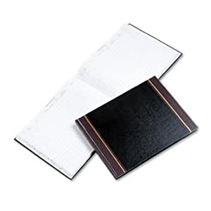 Wilson Jones Detailed Visitor Register Book, 9.5 x 12.5 Inches, 208 Pages, Black Cover (WS491)