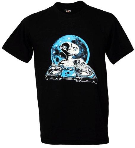 E.T. Dj Hip Hop Dance Music Party Men'S T-Shirt Black Size - Xl