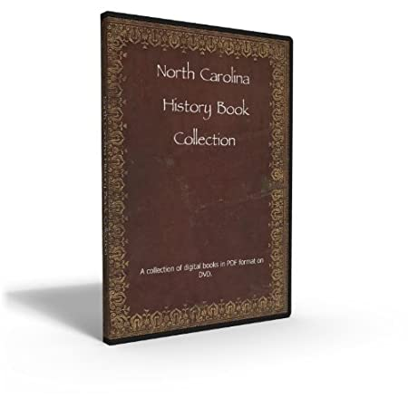 North Carolina State History and Genealogy - Collection of 62 Books From the 18th to 20th Century