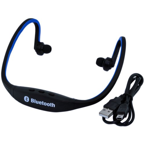 Iwoo Sports Wireless Bluetooth Headset Headphone Earphone For Cell Phone Iphone Laptop Pc(Blue)