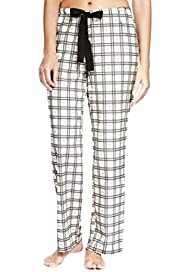 Pure Cotton Dobby Heart & Checked Pyjama Bottoms [T37-5635-S]