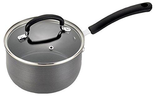 T-fal E78924 Precision Hard Anodized Nonstick Ceramic Coating PTFE PFOA and Cadmium Free Scratch Resistant Dishwasher Safe Oven Safe Sauce Pan Cookware, 3-Quart, Black (Tfal 3 Quart Saucepan compare prices)