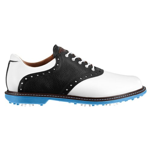 Ashworth Mens Kingston Saddle Golf Shoes 13 Us Medium White/Black