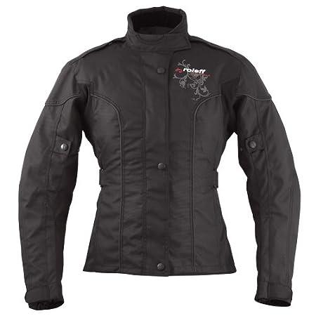 ROLEFF rACEWEAR jersey veste de moto pour femme en tissu motif ladylike 960, rO-s noir 9602