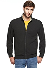 North Coast Pure Cotton Funnel Neck Fleece Lined Jacket