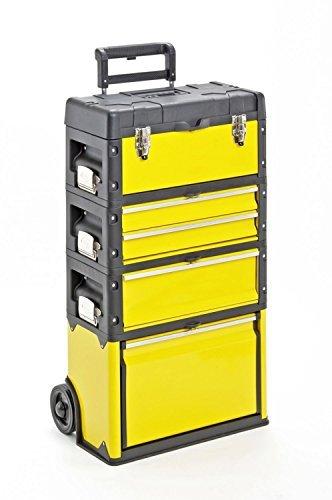 Trolley-4-Module-mit-5-Fchern-Werkzeugtrolley-Kunststoff-Metall