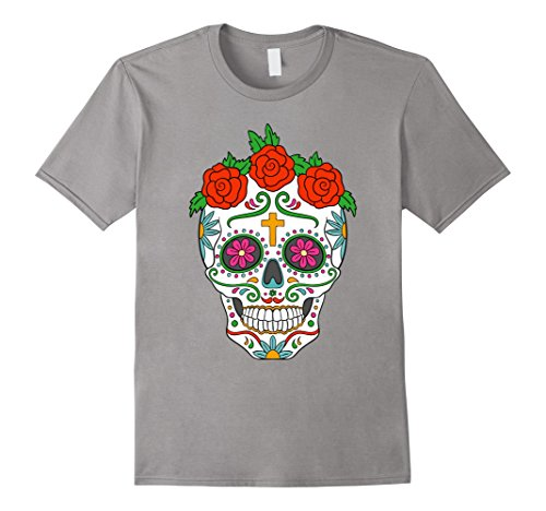 Sugar Skull with Roses Day of the Dead T-shirt