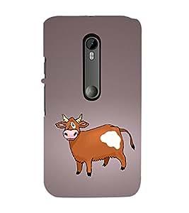 Funny Cow 3D Hard Polycarbonate Designer Back Case Cover for Moto G Turbo Edition :: Moto G Turbo (Virat Kohli Edition)