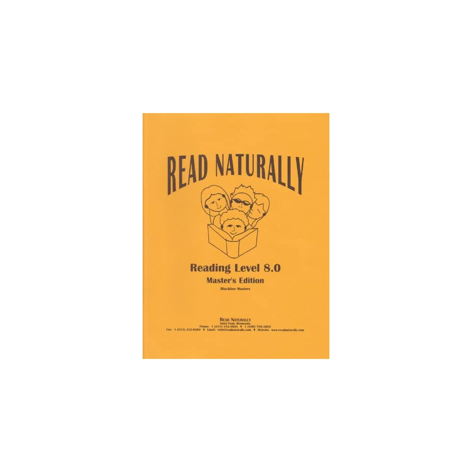 Read Naturally Masters Edition, Reading Level 8 0 (Blackline