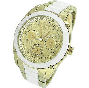Armani Exchange Gold-Tone Dial Women's Watch #AX5035