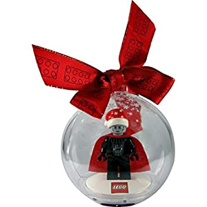 LEGO Star Wars Minifigur Santa Vader (Darth Vader) in LEGO Christbaumkugel / Weihnachtskugel