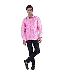 Warrior Art Silk Baby Pink Shirt