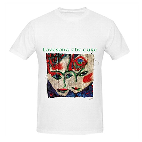 The Cure Lovesong Tracks Mens Crew Neck Cool Shirts White (Ninja Turtle Bicycle Jersey compare prices)