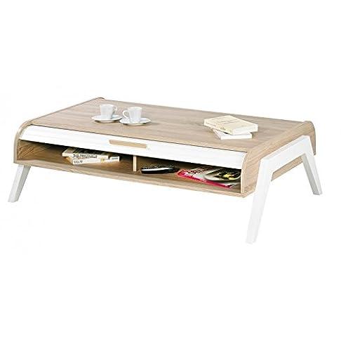 Simmob–Tavolino Vintage tende bianchi marrone