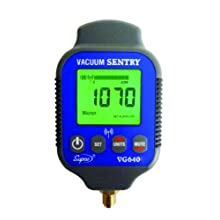 "Supco VG640   Vacuum Sentry With Local Alarm, LCD Display, 0-19000 microns Range, 10% Accuracy, 1/4"" Male Flare Fitting Connection"