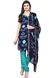 Soundarya Womens Cotton Unstitched Dress Material (Bs23 _Blue)