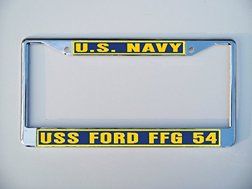 USS FORD FFG 54 License Plate Frame Metal or Plastic B1 (Uss Ford compare prices)