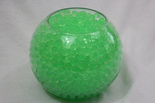 Lot de 10 sachets de perles d'eau Gel sol Vert Bio Gel Aqua Crystal en Gel silicone pour la décoration de vases de mariage