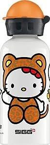 Sigg 8424.10 - Botella de agua (0,4 l), diseño de Hello Kitty con disfraz de tigre, color blanco de Sigg