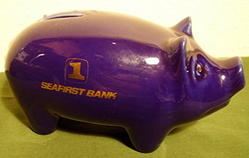 "Seafirst Ceramic Piggy Bank 7"" Long - 1"