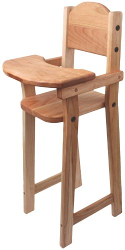 "Camden Rose Cherry Wood Doll High Chair, Flat Pack, 30"" Tall front-730691"