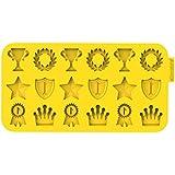 "Siliconezone Chocochips Collection 8.9"" Non-Stick Silicone Champion Chocolate Mold, Yellow"
