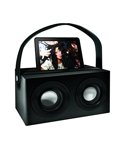 Polaroid Psk3002Bk 3.5Mm Rechargeable Portable Speaker Dock With Deep Bass, Black