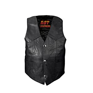 Hot Leathers Youth Classic Biker Vest (Black, Large)