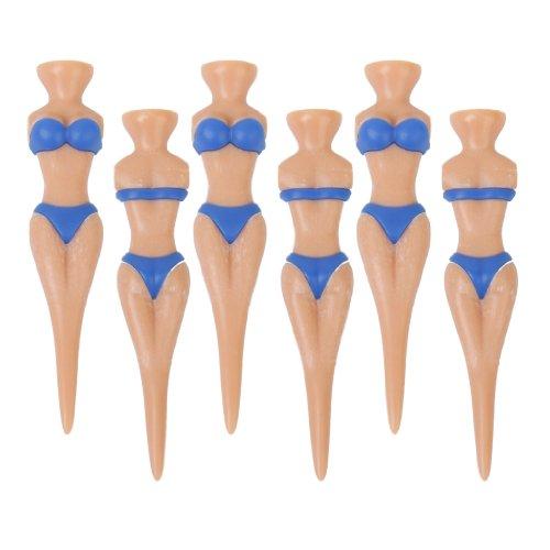 Set von 6 Stück Neuheit Bikinidame Golf Tees Divot Werkzeuge Joke Weihnachtsgeschenk Junggesellenabschied Lustige