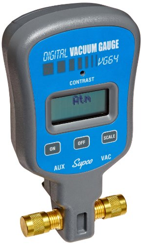 Supco-VG64-Vacuum-Gauge-Digital-Display-0-12000-microns-Range-10-Accuracy-14-Male-Flare-Fitting-Connection